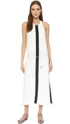 Josh Goot Split Long Line Dress White Forest