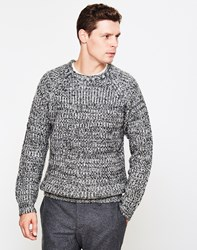 The Idle Man Colour Twist Knit Jumper Black