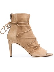 Vince Open Toe Ankle Boots Nude And Neutrals