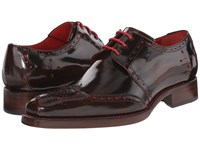 Jeffery West Cut Through Gibson Espresso Brown Red Men's Shoes