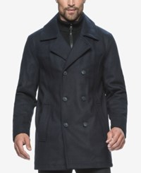 Marc New York Cheshire Wool Blend Bibby Peacoat Ink