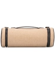 Troubadour Fabric And Leather Tech Case Nude Neutrals