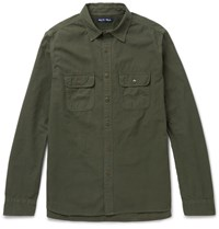 Alex Mill Roadhouse Cotton Ripstop Shirt Army Green