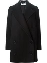 Stella Mccartney Double Breasted Coat Black