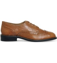 Office Delta Leather Brogues Tan Leather