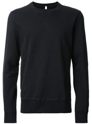 Attachment Crew Neck Sweatshirt Black
