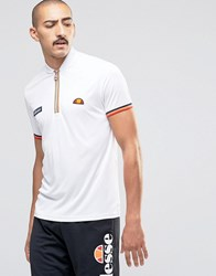 Ellesse T Shirt With Zip White