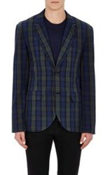Marc By Marc Jacobs Plaid Stanley Sportcoat Blue
