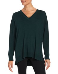 French Connection Drop Shoulder V Neck Sweater Pine Forest