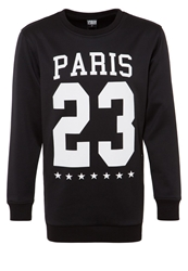 Urban Classics Crew Paris Sweatshirt Black