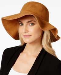 Collection Xiix Faux Suede Bucket Floppy Hat Brown