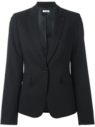 P.A.R.O.S.H. Pinstriped Single Breasted Blazer Black