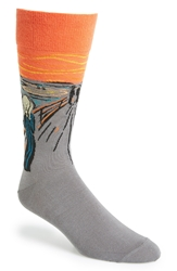 Hot Sox 'The Scream' Socks Orange