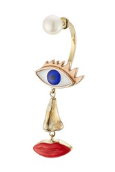 Delfina Delettrez 9Kt Yellow Gold Earring With Pearl Multicolor