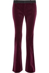 Gucci Mid Rise Velvet Flared Pants