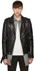 Blk Dnm Black Leather Classic Biker 5 Jacket