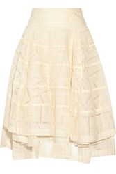 Fil Coupe Wool Blend Skirt White