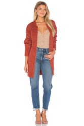 Minkpink By The Fire Cardigan Brick