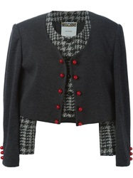 Moschino Vintage '2 In 1' Cropped Jacket Grey