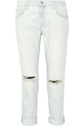 Current Elliott The Fling Mid Rise Slim Boyfriend Jeans Light Denim