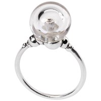 Trollbeads Sterling Silver Crystal Bubble Ring Clear