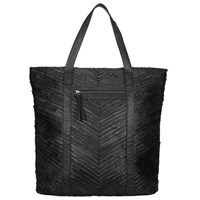 Pieces Piper Large Leather Tote Bag Black