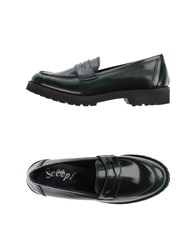 Scoop Moccasins Dark Green