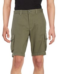 Black Brown Cotton Cargo Shorts Dusty Olive