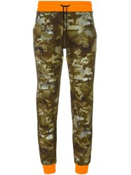 Versus Camouflage Sweatpants Green