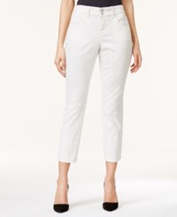 Styleandco. Style And Co. Curvy Fit Animal Print Cropped Skinny Jeans Only At Macy's Animal Twill