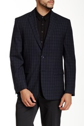 Vince Camuto Notch Lapel Two Button Wool Sportcoat Blue