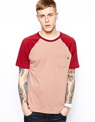 Wesc Leonde Baseball T Shirt Red