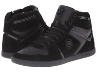 The Kooples Sport Smooth And Split Leather Sneaker Black Men's Lace Up Casual Shoes