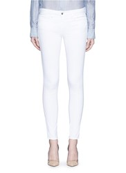 L'agence 'The Chantal' Skinny Ankle Grazer Jeans White