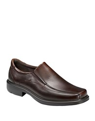 Ecco Helsinki Slip On Leather Loafers Brown