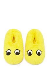 Forever 21 Googly Eyes Slippers Yellow