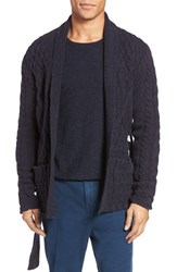 Eidos Napoli Men's Cable Knit Wool Cardigan