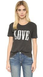 Zadig And Voltaire Walk Overdyed Tee Shirt Charcoal