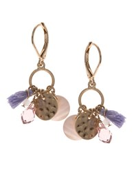 Lonna And Lilly Abalone Cluster Amy Drop Earrings Multi