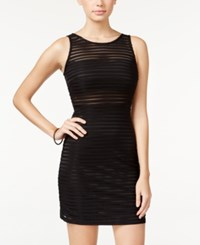 Jump Juniors' Pintucked Illusion Bodycon Dress Black