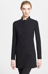 Akris 'Parker' Double Face Wool Jacket Black