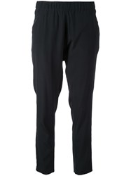Scanlan Theodore Low Rise Boyfriend Trousers Black