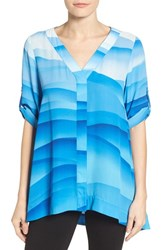 Chaus Women's Breezy Layers Roll Sleeve Blouse