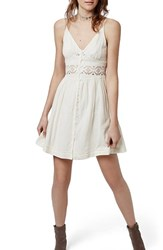 Women's Topshop Crochet Inset Sundress
