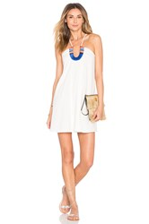 Piper Saltillo Horse Shoe Dress White