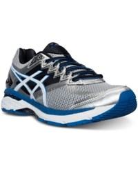 Asics Men's Gt 2000 4 Wide Width Running Sneakers From Finish Line Silver White Royal