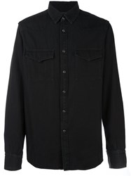 Ann Demeulemeester Grise Denim Shirt Black