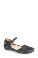 Pikolinos 'P. Vallerta' Leather Flat Women Blue