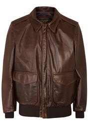 Schott Nyc A2 Brown Leather Jacket