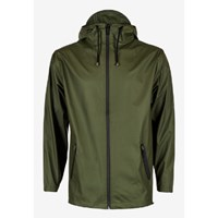 Rains Women's Green Zip Hooded Mac